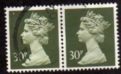 PAIR OF 30P 'DEEP OLIVE GREY' FINE USED