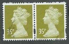 PAIR OF 35P 'YELLOW OLIVE' (CB)  FINE USED