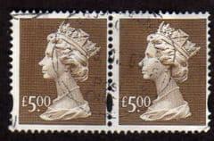 PAIR OF £5.00 'BROWN' FINE USED
