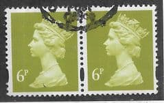 PAIR OF 6P 'YELLOW OLIVE' (2B)  FINE USED