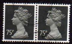 PAIR OF 75P 'GREY BLACK'(ORD)P15 X 14(HARRISON) FINE USED