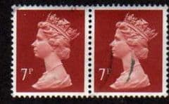 PAIR OF 7P 'BROWNISH RED (HARRISON) FINE USED