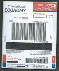 PARCELFORCE ' INT'L ECONOMY' (PFU513) (OVPT OVER E.M.S, GLS AND GB LOGO'S)