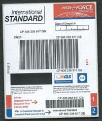 PARCELFORCE ' INT'L STANDARD' (PFU512) (OVPT OVER E.M.S)