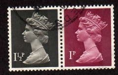 SE~TE PAIR FROM BOOKLET PANE FINE USED