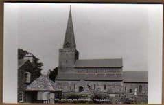 ST NICHOLAS CHURCH,TRELLECH REAL PHOTO