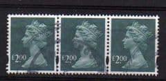 STRIP OF 3 X £2.00 (2003) MACHIN,CAT £16.50