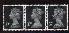 STRIP  OF 3X  37P' GREY-BLACK' FINE USED.