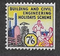 U/M 7/6d 'BUILDINGS AND CIVIL ENGINEERING HOLIDAY SCHEME'