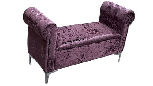 Bailey Upholstered Velvet Storage Sofa Bench
