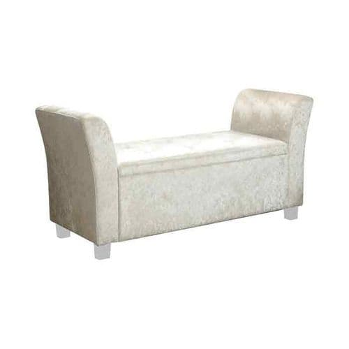Cambria Window Upholstered Storage Bench - Cream