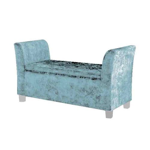Cambria Window Upholstered Storage Bench - Seaspray