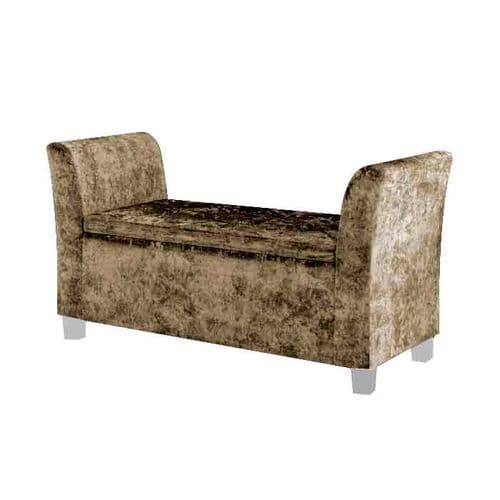 Cambria Window Upholstered Storage Bench - Stone