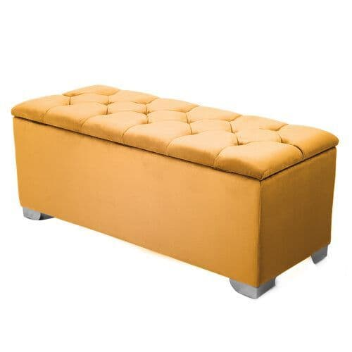 Maidenhead Storage Ottoman - Gold