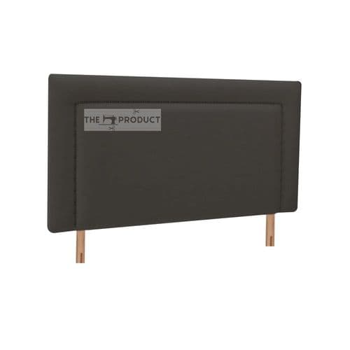 Single Black Velvet High Headboard