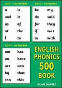 S-64 English Phonics 500 Book (Read and spell the 500 English Basewords)