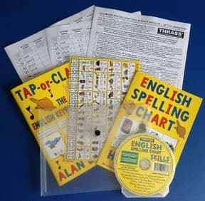 S-97 English Spelling Chart Pack (Training pack for Teachers, Assistants, Students and Parents)
