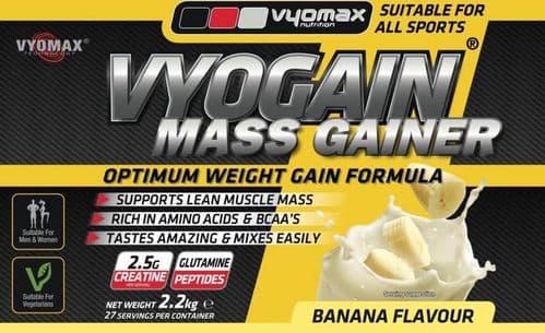 Vyogain Mass Gain Powder Vanilla 2.2kg | Vyomax Nutrition