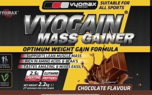 VYOGAIN® MASS GAIN POWDER 2.2KG CHOCOLATE