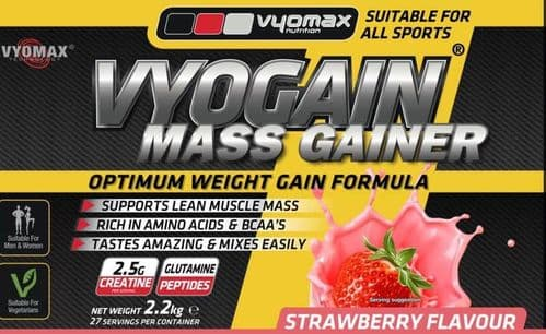 VYOGAIN® MASS GAIN POWDER 2.2KG STRAWBERRY