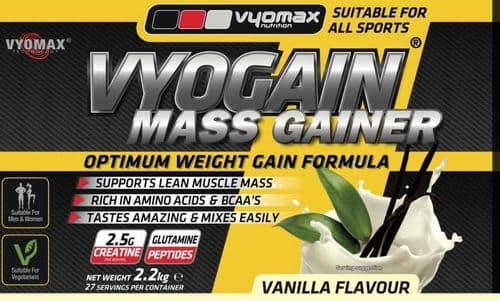VYOGAIN® MASS GAIN POWDER 2.2KG VANILLA